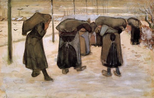 VincentVanGogh-Women-Miners-Carrying-Coal-1881-82